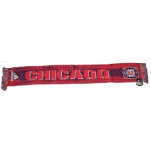 MLS Officially Licensed Chicago Fire Double Sided Fringe Scarf
