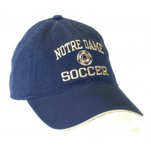 Notre Dame Slouch Fit Distressed Soccer Ball Soccer Hat