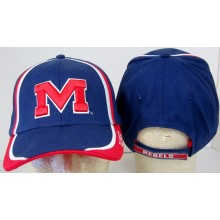 NCAA Officially Licensed University of Mississippi Ole Miss Trim Style Adjustable Baseball Hat