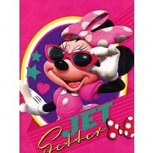 "Minnie Mouse Jet Setter 45"" X 60"" Character Fleece Throw"