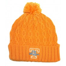 NCAA Officially Licensed Tennessee Volunteers Cuffed Cable Knit Pom Beanie Hat Cap Lid