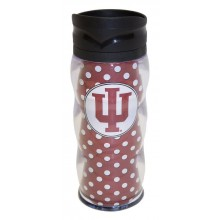 NCAA Officially Licensed 20 Oz Insulated Curvy Travel Tumbler (Indiana Hoosiers)