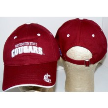 NCAA Officially Licensed Washington State Cougars Maroon Embroidered Baseball Hat