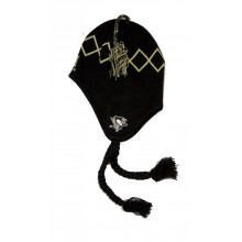 NHL Licensed Pittsburgh Penguins #71 Malkin Mongolian Argyle Braided Beanie Hat Cap Lid