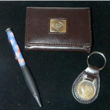 MLB Philadelphia Phillies 3 Piece Executive Gift Set Wallet / Pen / Keychain