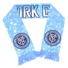 MLS Officially Licensed New York City Football Club Clouds Double Sided Fringe Scarf