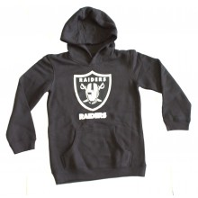 NFL Officially Licensed Oakland Raiders Reflective Gold Outline Logo Youth Hoodie