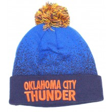 Oklahoma City Thunder Mitchell & Ness Speckled Navy Blue Cuffed Pom Beanie