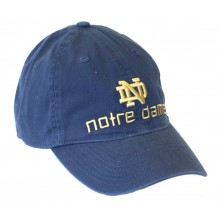 NCAA Officially Licensed Notre Dame Navy Slouch Fit Block Print Hat Cap Lid