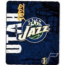 "NBA Officially Licensed Utah Jazz Side Bar 50""x60"" Fleece Throw Blanket"
