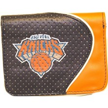 NBA Officially Licensed Faux Leather Zipper Wallet (New York Knicks Dark Blue)