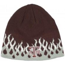NCAA Officially Licensed Texas A&M Aggies Flame Design Cuffless Beanie Hat