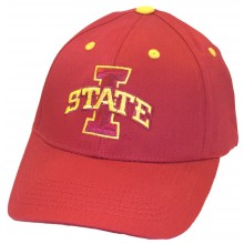 NCAA Licensed Iowa State Cyclones Embroidered Team Logo Red Baseball Style Hat Cap