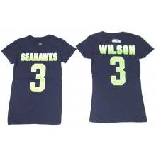 NFL Officially Licensed Seattle Seahawks YOUTH Russell Wilson Shirt (Girls)