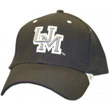"NCAA Officially Licensed Ole Miss Rebels Black Silver ""UM"" Logo Hat Cap Lid"