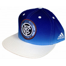 MLS Officially Licensed New York City Football Club Fade Flat Bill Snapback Hat Cap Lid