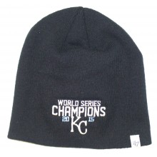 MLB Officially Licensed Kansas City Royals '47 Brand World Series Champions Cuffless Beanie Hat Cap Lid