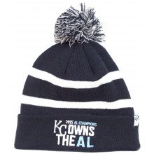 "MLB Officially Licensed Kansas City Royals '47 Brand ""KC Owns the AL"" American League Champions Cuffed Pom Beanie H"
