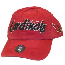 NFL Officially Licensed Arizona Cardinals Team Name Side Logo Baseball Style Hat Cap