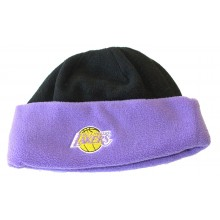 NBA Los Angeles Lakers 2 Tone Fleece Cuffed Beanie Hat Cap Lid