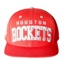 NBA Licensed Houston Rockets Red Solid Snapback Cap Hat