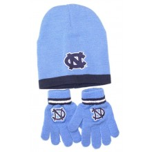 NCAA North Carolina Tar Heels Toddler Size Beanie Hat and Gloves Set