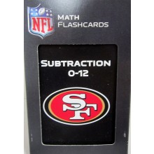NFL Officially Licensed San Francisco 49ers Subtraction Math Flash Cards