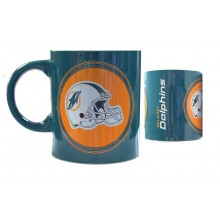 Miami Dolphins 12oz Helmet CeramicTeam Fan Mug