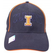 NCAA Officially Licensed Illinois Illini Embroidered Slouch Fit Hat Cap Lid