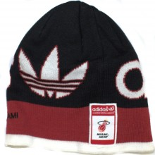 NBA Officially Licensed Miami Heat Stitched Logo Red Stripe Beanie Hat Cap Lid Toque
