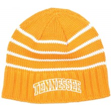 NCAA Officially Licensed Tennessee Volunteers Embroidered Team Striped Fleece Lined Beanie Hat Cap Lid Toque