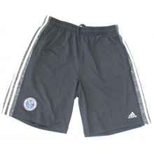 MLS Officially Licensed New York City Football Club Side Stripe Shorts With Stitched Logo (Large)