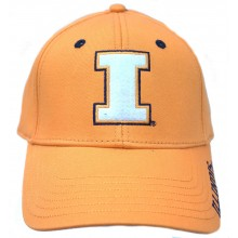 Illinois Embroidered Orange Slouch Fit Hat Cap Lid