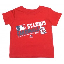MLB Licensed St. Louis Cardinals Authentic Collection Slant Print YOUTH Shirt (Large 14-16)