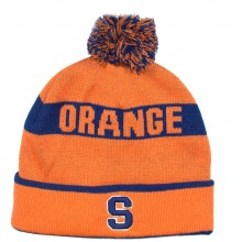 NCAA Officially Licensed Syracuse Orange Team Name Orange Cuffed Pom Beanie Hat Cap Lid