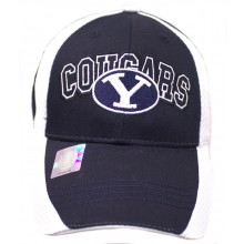 NCAA Officially Licensed Brigham Young University (BYU) 2 Tone Embroidered Hat Cap Lid
