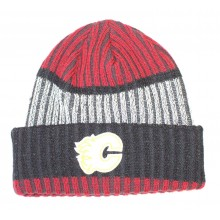 NHL Officially Licensed Calgary Red Gray Cuffed Beanie Hat Cap Lid