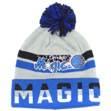 NBA Officially Licensed Orlando Magic Mitchell & Ness Blue Gray Print Cuffed Pom Beanie Hat Cap Lid …