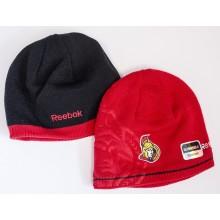 NHL Licensed Ottawa Senators Black And Red Reversible Beanie