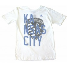 MLS Officially Licensed KC Sporting YOUTH Kansas City Pride Shirt With Logo (Medium 10-12)