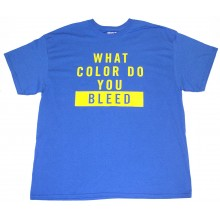 "NHL Licensed St. Louis Blues ""What color do You Bleed"" T-Shirt (X-Large)"