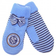 MLS Licensed New York City Football Club Womens Knit Mittens