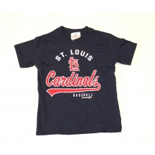 MLB Licensed St Louis Cardinals YOUTH Script Print T-Shirt (Medium)