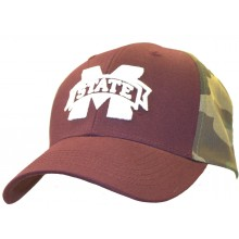 NCAA Licensed Mississippi State Bulldogs Maroon Camo Embroidered Logo Baseball Hat Cap Lid