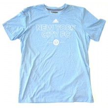 MLS Officially Licensed New York City Football Club Powder Blue Dotted Shirt (Large)