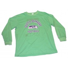 NFL Licensed Seattle Seahawks Long Sleeve Team Colored Shirt