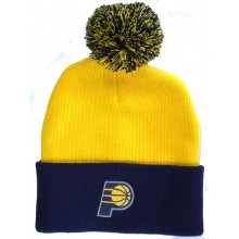 NBA Officially Licensed Indiana Pacers Yellow Cuffed Pom Beanie Hat Cap Lid