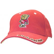 NCAA Licensed Mississippi State Bulldogs Red Embroidered Mascot Baseball Hat Cap Lid