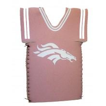Denver Broncos Licensed Pink Jersey bottle koozie cooler