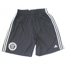 MLS Officially Licensed New York City Football Club Black And White Shorts With Printed Logo (Large)